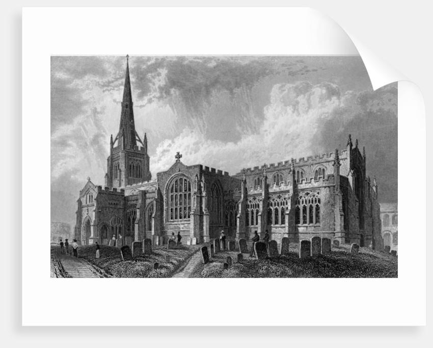 Thaxted Church, Essex by William Henry Bartlett