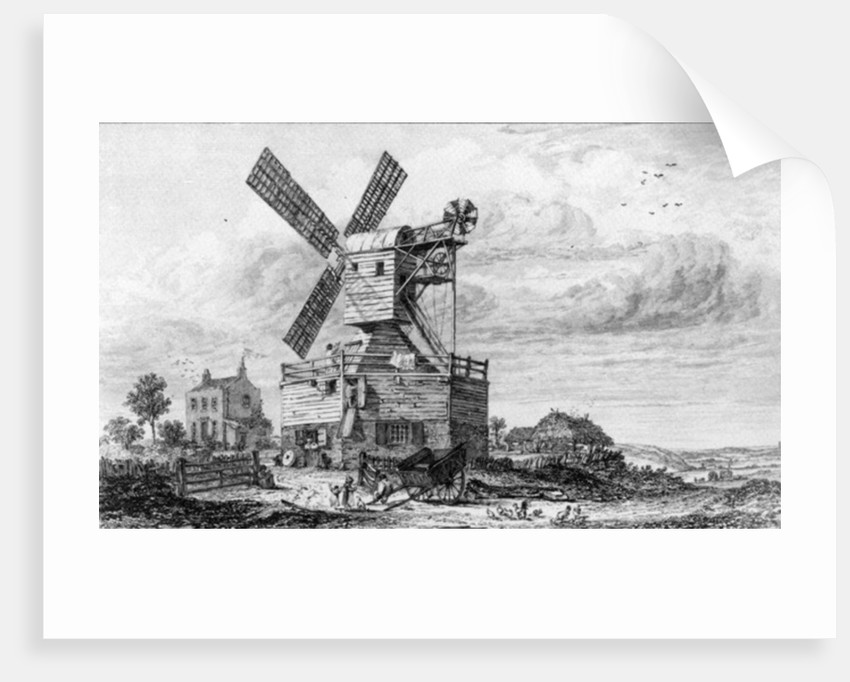 Mill on Wimbledon Common by George Cooke