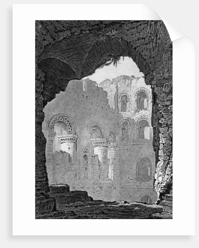 Interior of the Keep of Rochester Castle, Kent by Henry Gastineau
