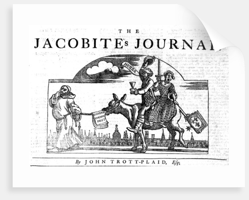 Title Vignette of 'The Jacobite's Journal' by William Hogarth