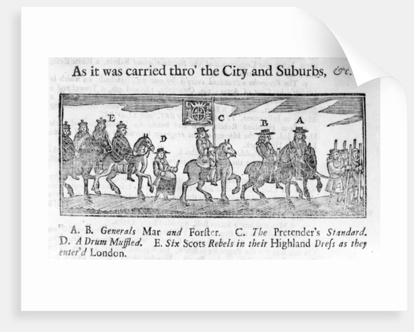 Illustration from 'An Account of the Whole Procession', pamphlet by English School