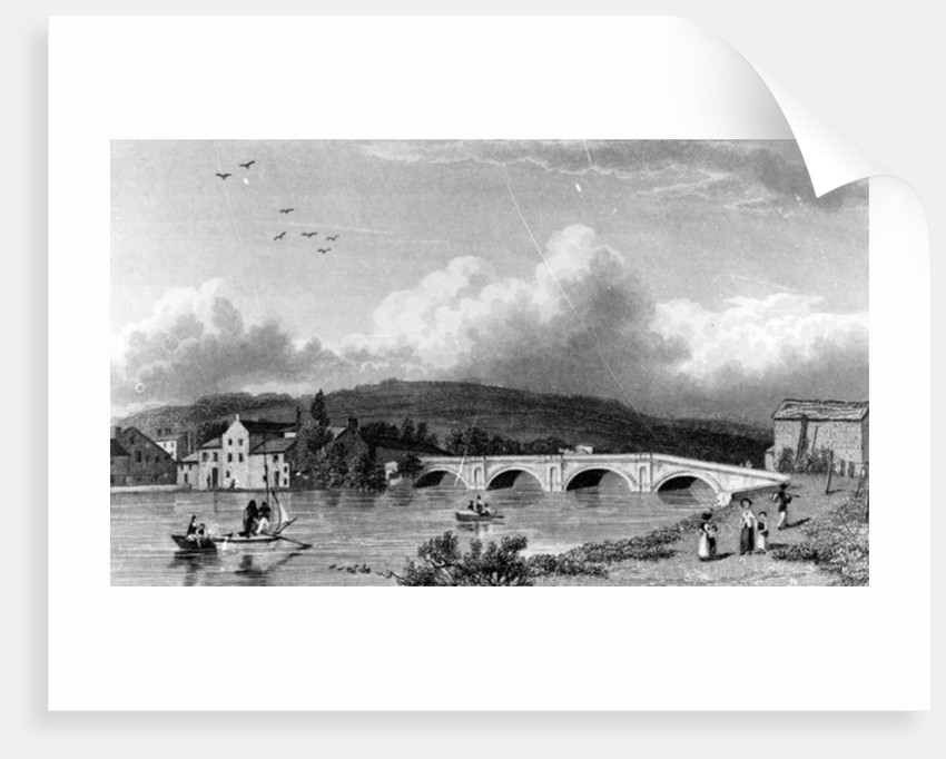 Strammongate Bridge, Kendal by William Westall