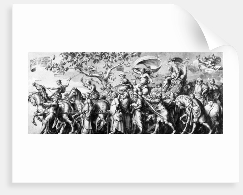The Triumph of Riches, drawn by Jan de Bisschop by Hans Holbein The Younger