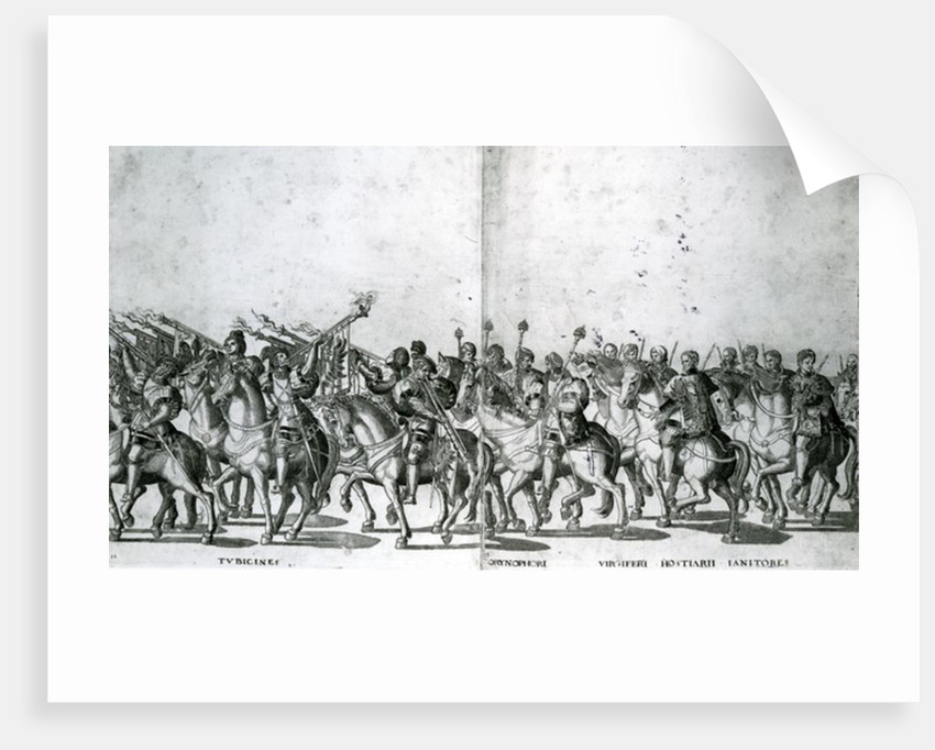 Plate 12 and 13 of the Entry of Pope Clement VII and Emperor Charles V into Bologna by Nicholas Hogenberg