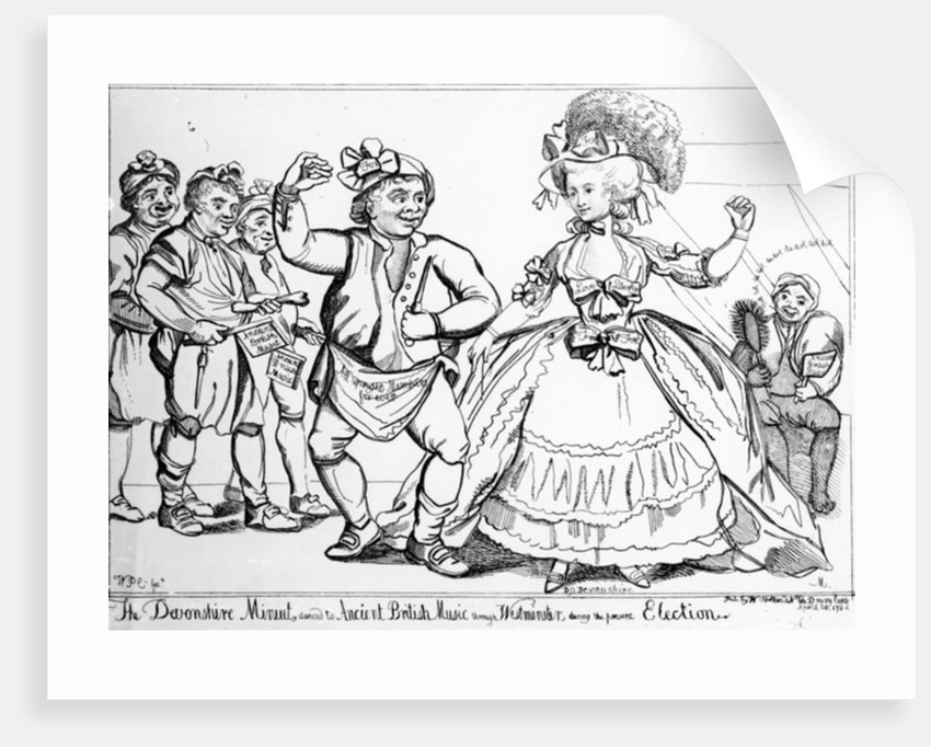 The Devonshire Minuet by English School