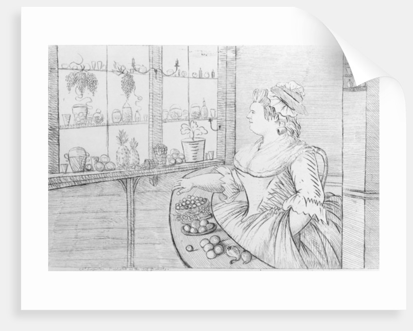Mrs Weltje in her Shop in Pall Mall by Charles Bretherton