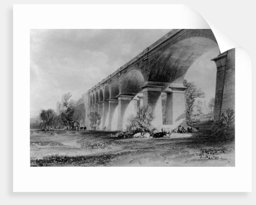 Wharncliffe Viaduct by John Cooke Bourne