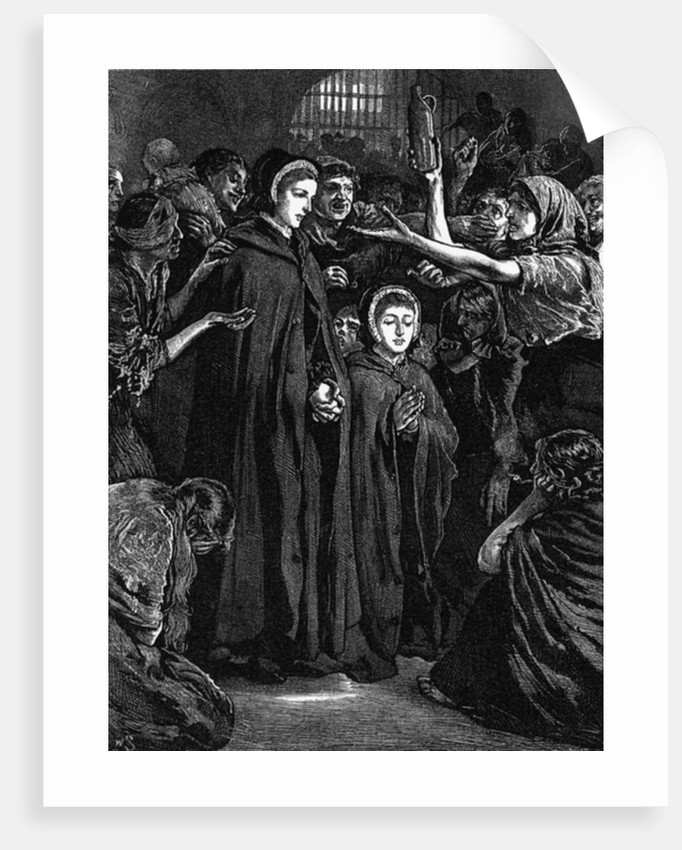Elizabeth Fry and Anna Buxton visiting Newgate Prison by English School