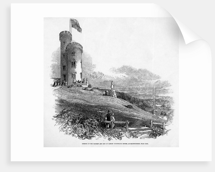 Opening of the Mathew and City of London Temperance Tower, at Mount Patrick, near Cork by Irish School