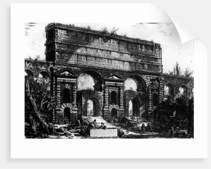 View of the Porta Maggiore by Giovanni Battista Piranesi