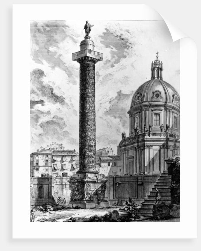 View of Trajan's Column and the Church of SS Nome di Maria by Giovanni Battista Piranesi