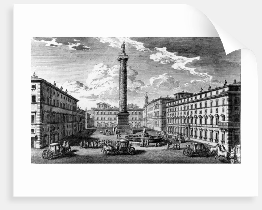 View of Piazza Colonna, Rome by Giuseppe Vasi