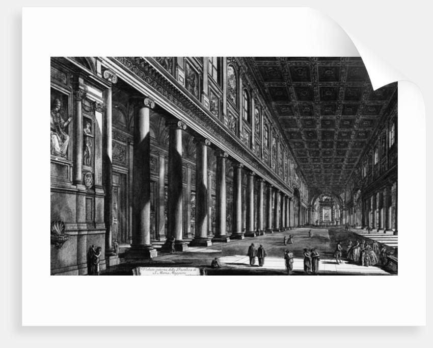 View of the interior of Santa Maria Maggiore by Giovanni Battista Piranesi