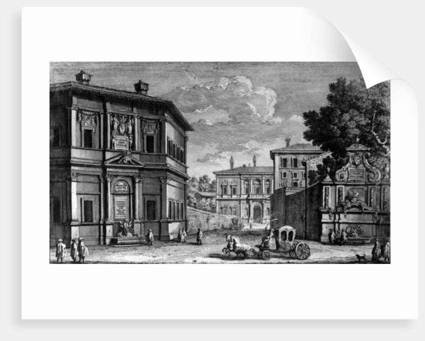 View of the Casino della Vigna and the Villa Giulia beyond by Giuseppe Vasi