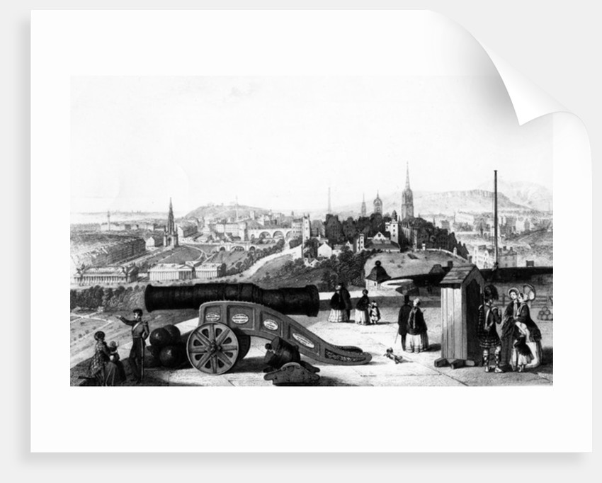 Edinburgh from the Castle, engraved by Thomas Brown by J Ramage