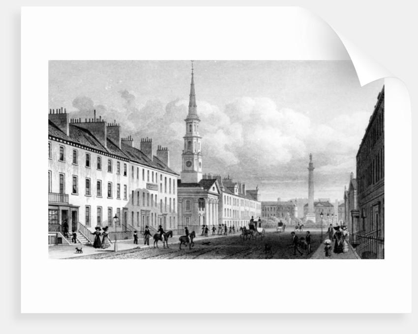 George Street, St. Andrew's Church and Lord Melville's Monument, Edinburgh by Thomas Hosmer Shepherd