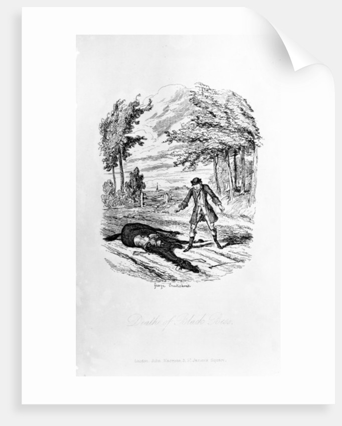 Death of Black Bess by George Cruikshank