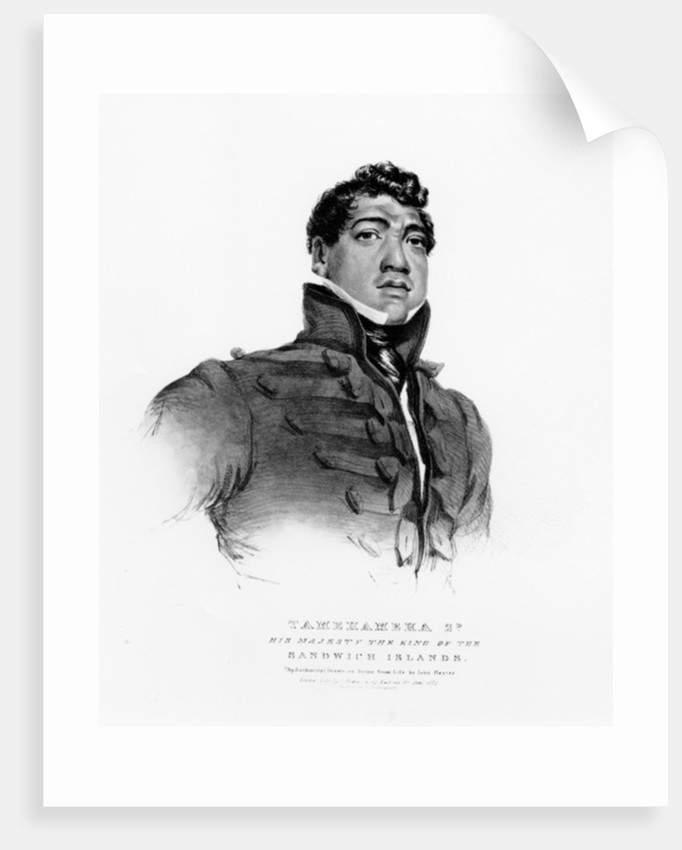 Tamehameha II, His Majesty the King of the Sandwich Islands by John Hayter