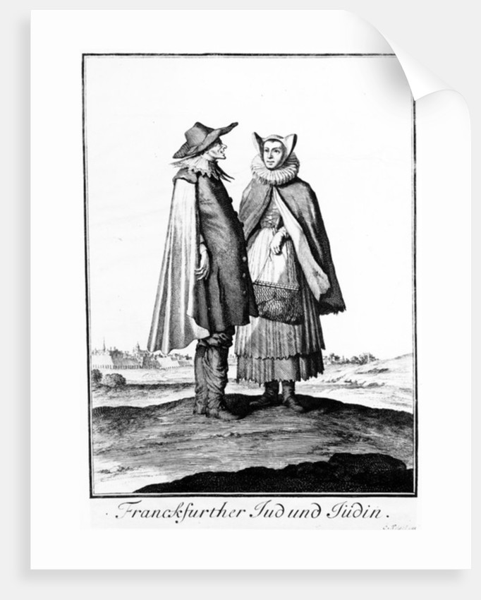 A Jewish Couple from the Frankfurter Judengasse by Christoph Weigel