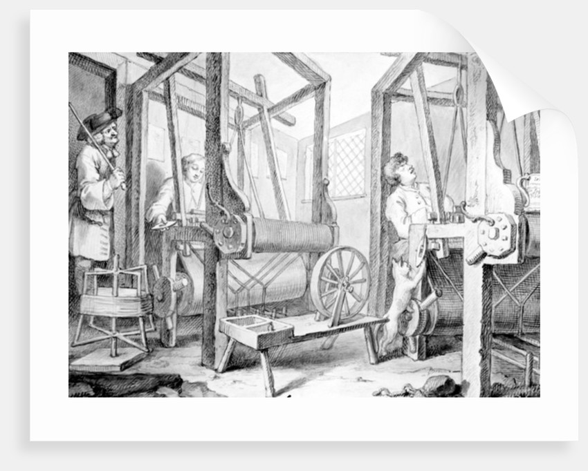 The Fellow Prentices at their Looms Representing Industry and Idleness by William Hogarth