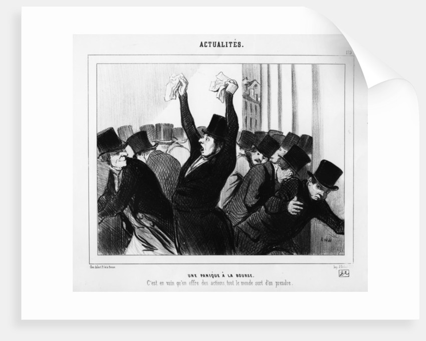 A Panic at the Stock Exchange by Honore Daumier