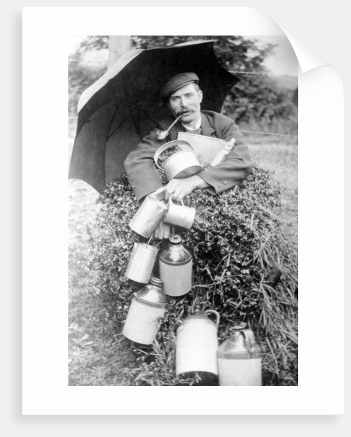 Man with Pipe by English Photographer