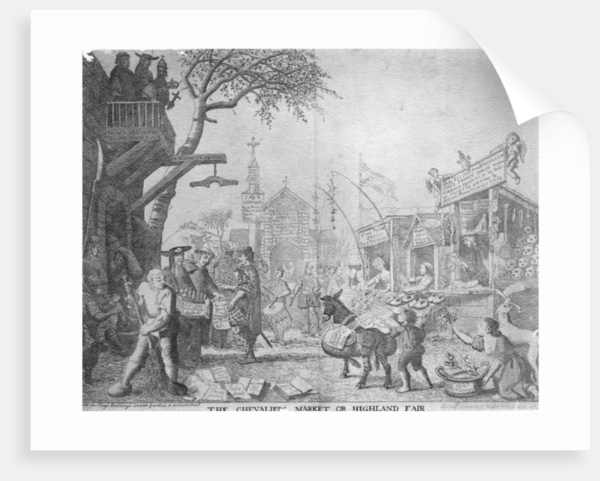 The Chevaliers Market, or Highland Fair, published by George Bickham the Younger by English School