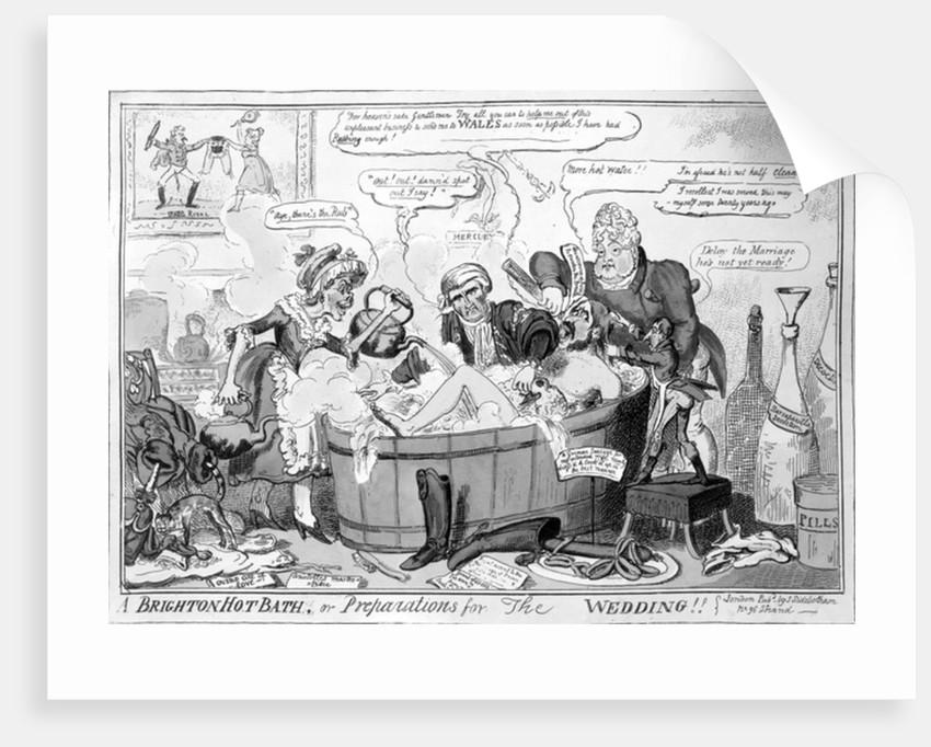 A Brighton hot bath, or preparations for the wedding by George Cruikshank