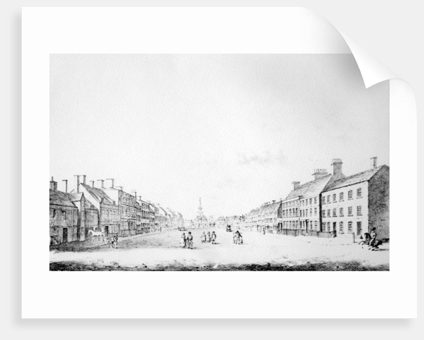 View of the Principal Street of Stockton in the County of Durham by Haynes King