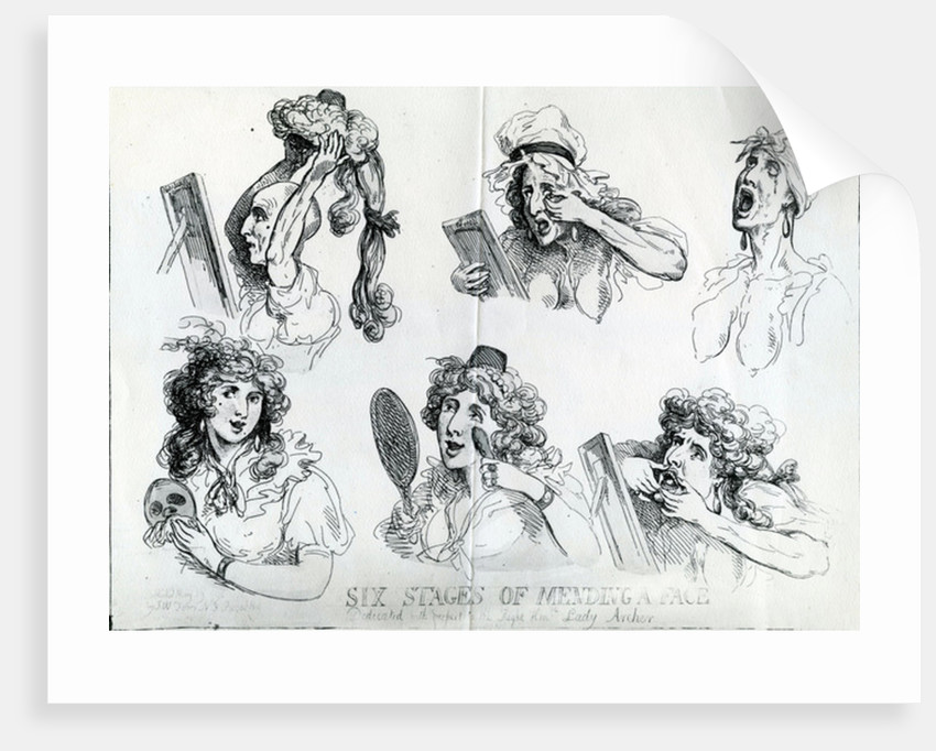 Six Stages of Mending a Face by Thomas Rowlandson