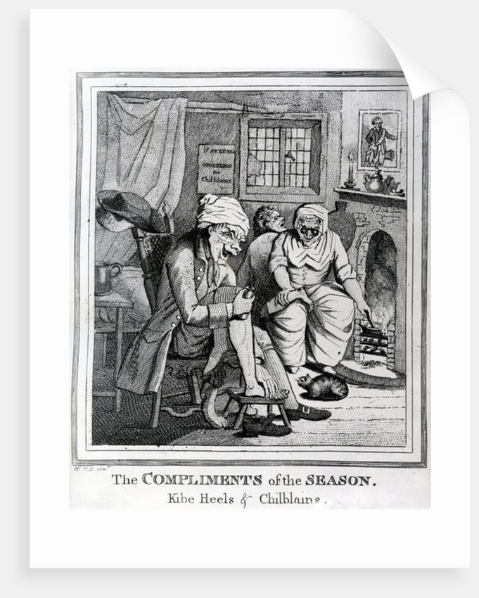The Compliments of the Season, Kibe Heels & Chillblains by Henry William Bunbury