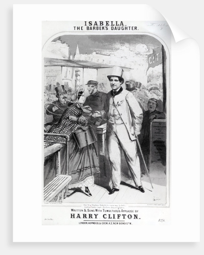 Isabella the Barber's Daughter, advert for the music of Harry Clifton by English School