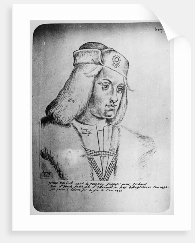 Portrait of Perkin Warbeck Flemish imposter and pretender to the English throne by French School