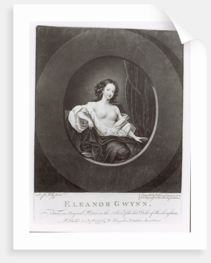 Eleanor (Nell) Gwynne by Sir Peter Lely