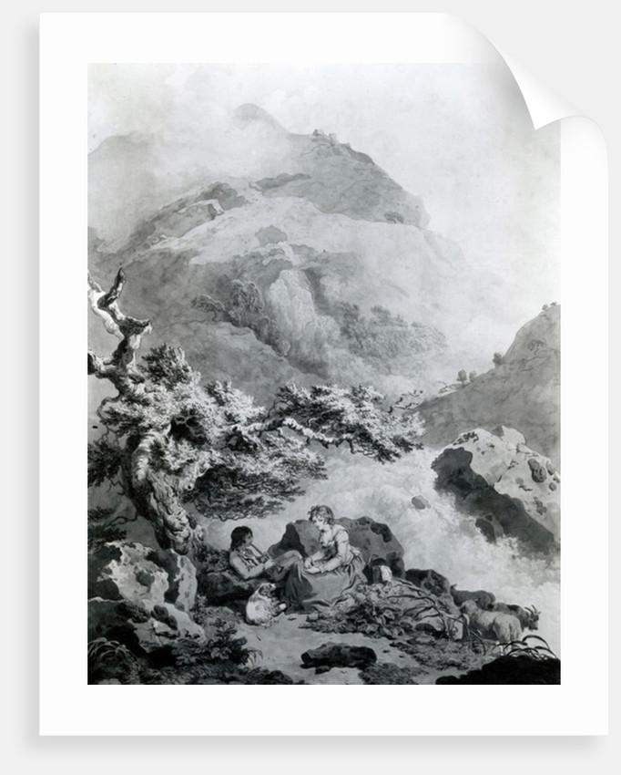 Illustration to Jean-Jacques Rousseau's 'Nouvelle Héloise' by Francis Wheatley