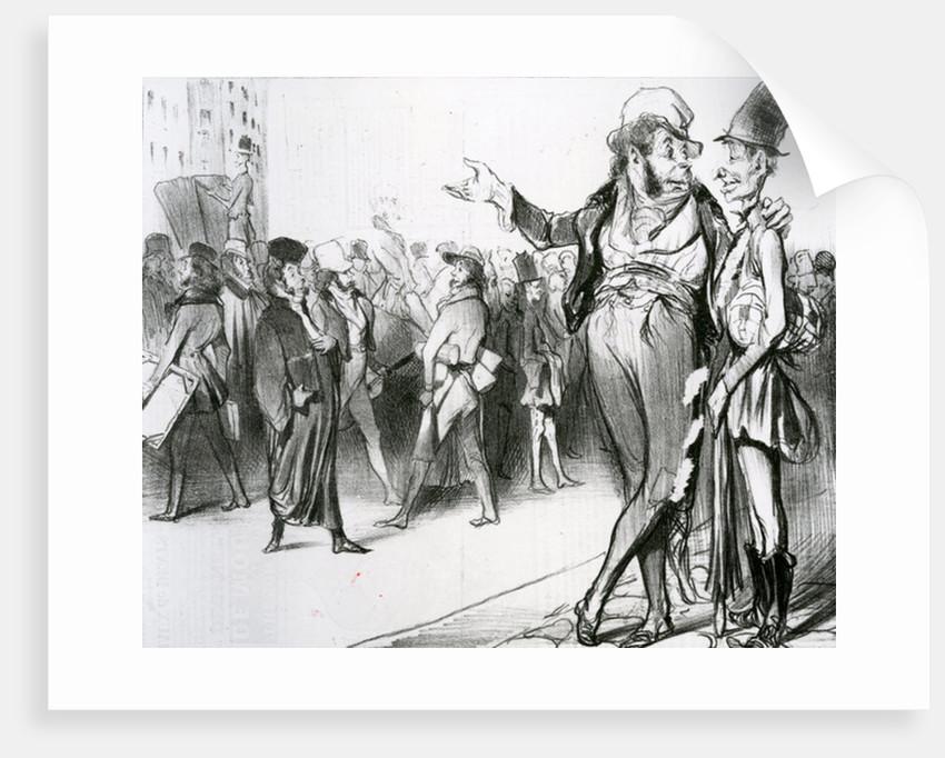C'est tout de même flatteur d'avoir fait tant d'élèves! by Honore Daumier