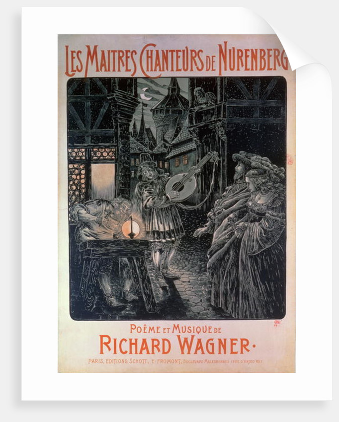 Poster advertising The Master Singers of Nuremberg by French School