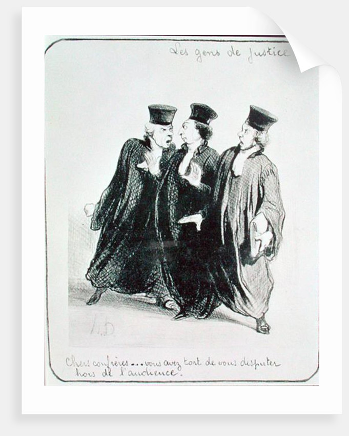 A Dispute Outside the Courtroom by Honore Daumier