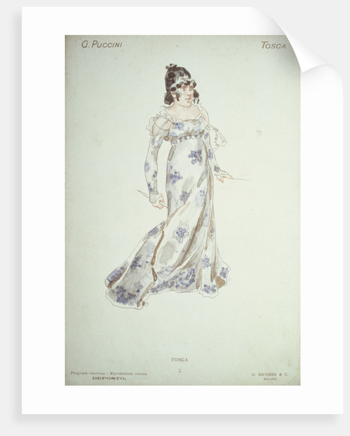 Costume design in 'Tosca' by Giacomo Puccini by Adolfo Hohenstein