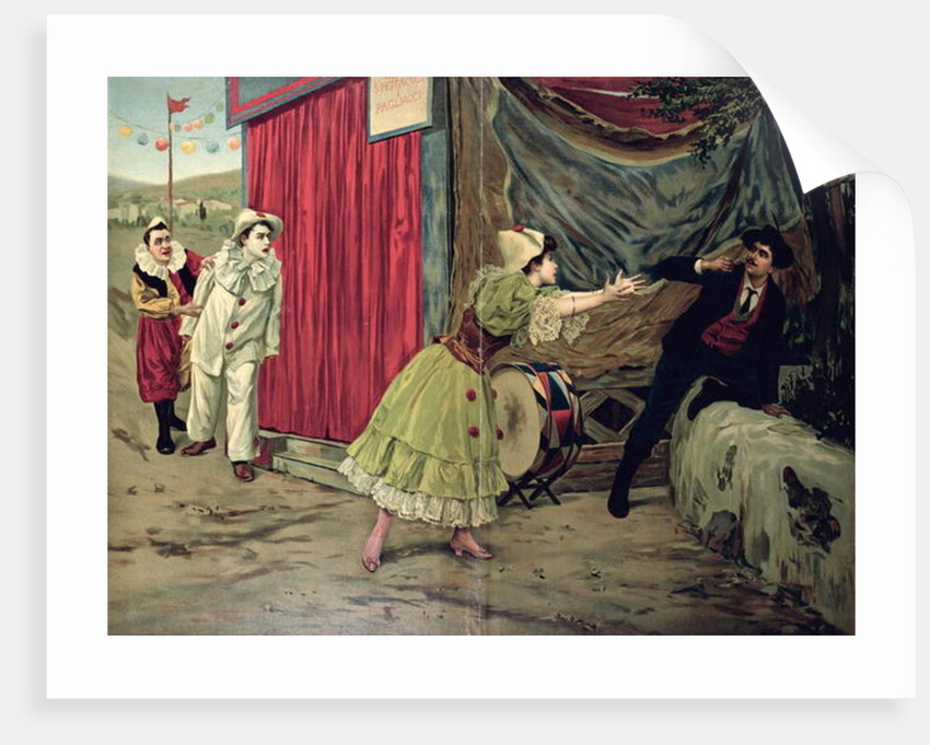 Scene From The Opera Pagliacci By Ruggiero Leoncavallo French School
