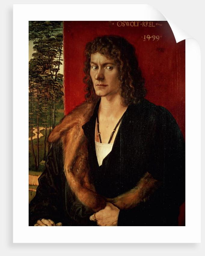 Portrait of Oswolt Krel by Albrecht Dürer or Duerer