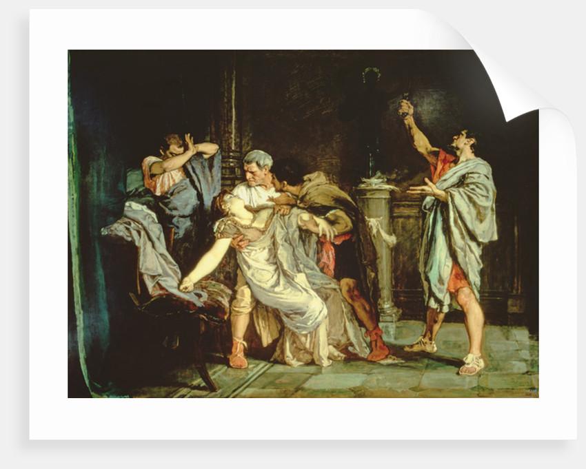 Death of Lucretia by Eduardo Rosales