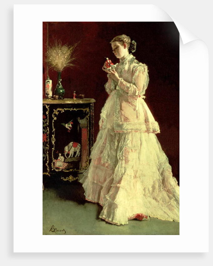 The Lady in Pink by Alfred Emile Stevens