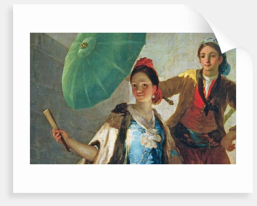 The Parasol by Francisco Jose de Goya y Lucientes