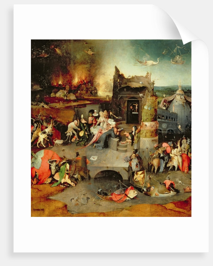 Temptation of St. Anthony (centre panel) by Hieronymus Bosch