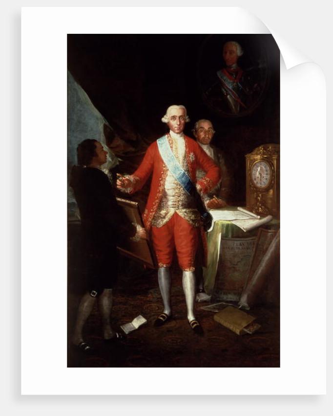 Portrait of Don Jose Monino y Redondo I, Conde de Floridablanca by Francisco Jose de Goya y Lucientes