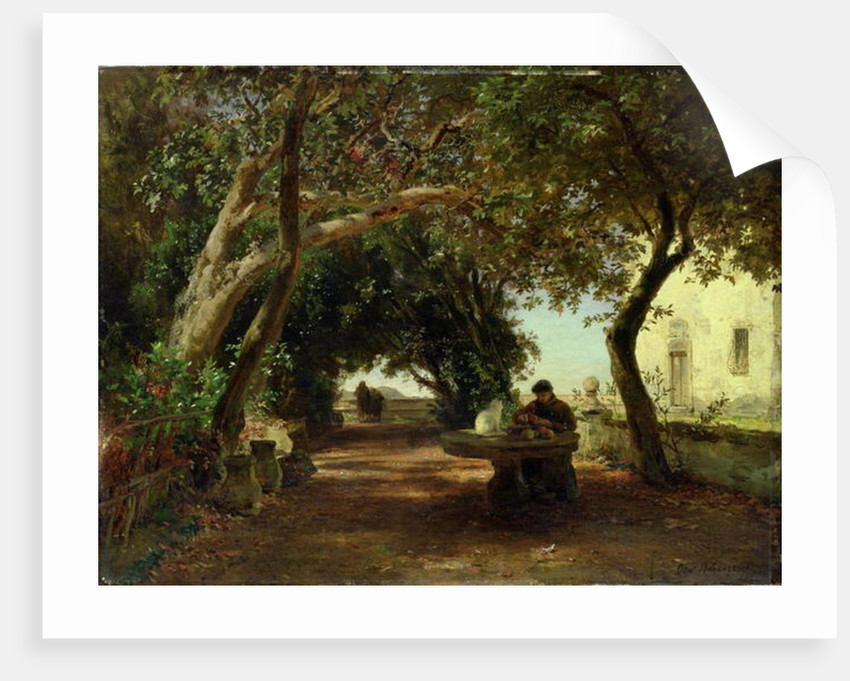 Italian Cloisters by Andreas Achenbach