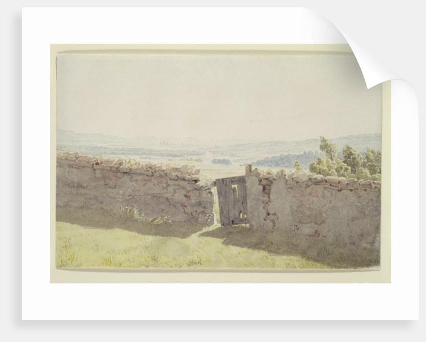 Gate in the Garden Wall by Caspar David Friedrich