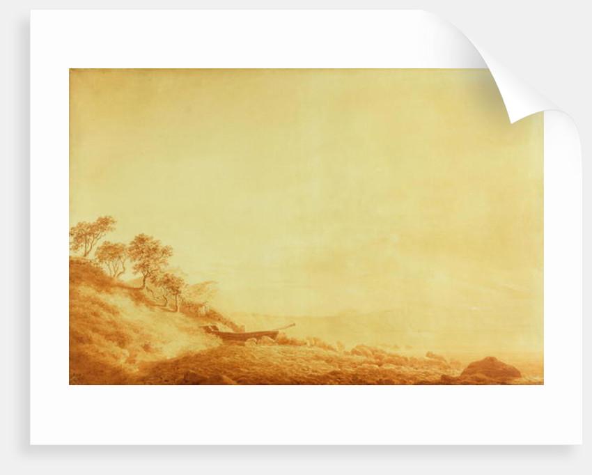 Looking towards Arkona at sunrise by Caspar David Friedrich