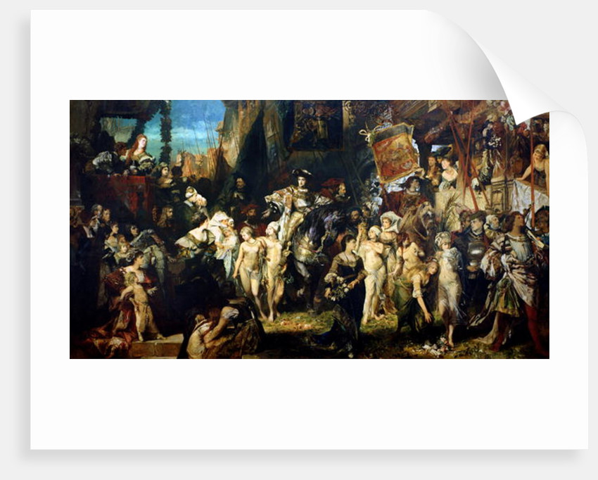 The Entrance of Emperor Charles V into Antwerp in 1520 by Hans Makart
